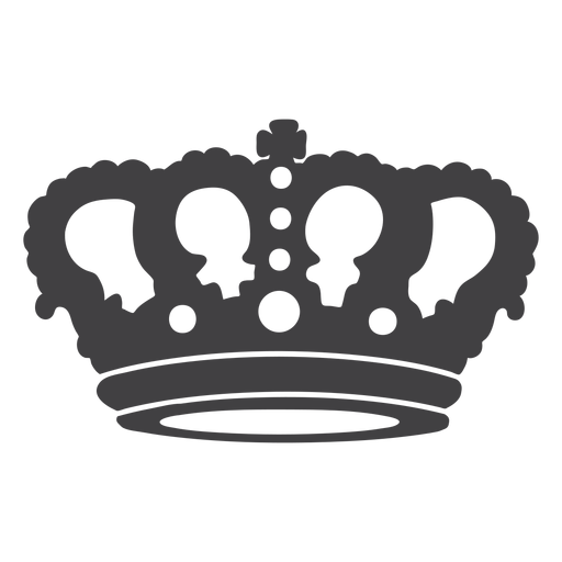 Crown design simple top cross icon Transparent PNG