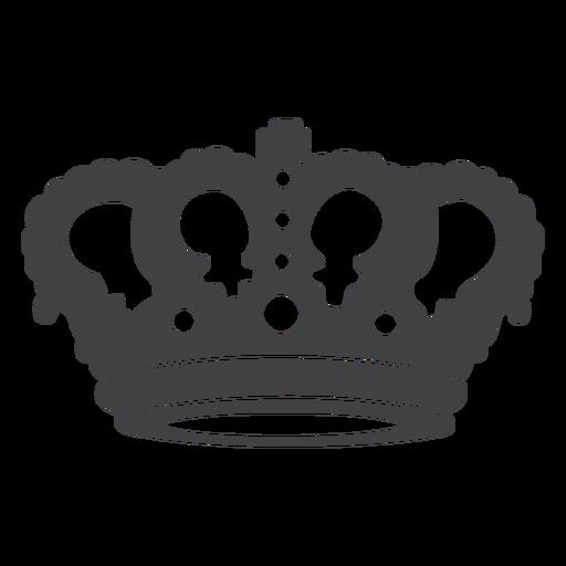 Crown design simple top cross icon