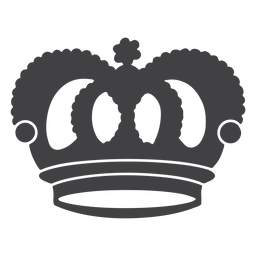 Ícone de arcos superiores com desenho de coroa