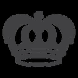 Icono de arcos superiores de diseño de corona