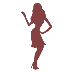 Dance women hand back silhouette