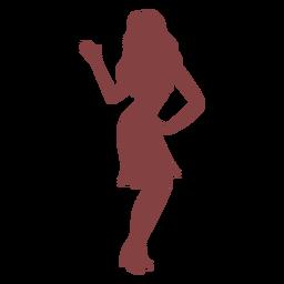 Silueta de espalda de mujer de baile