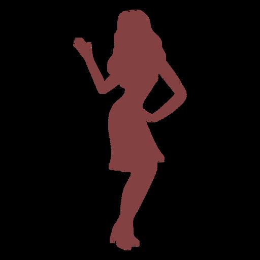 Dance women hand back silhouette Transparent PNG