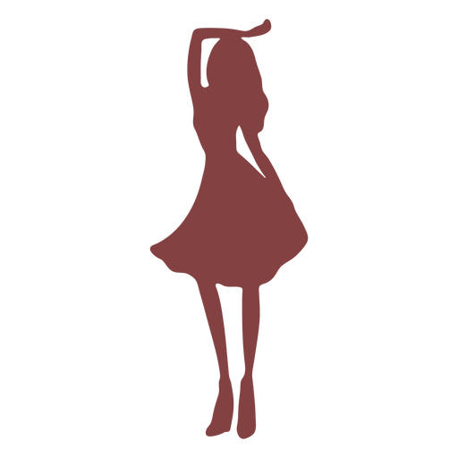 Dance women hand raised silhouette Transparent PNG