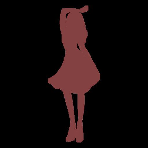 Danza mujer mano levantada silueta
