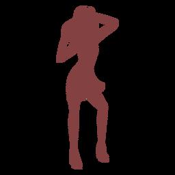 Danza mujer manos cabeza silueta