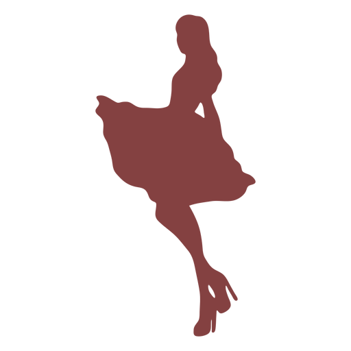 Dance women swing silhouette Transparent PNG