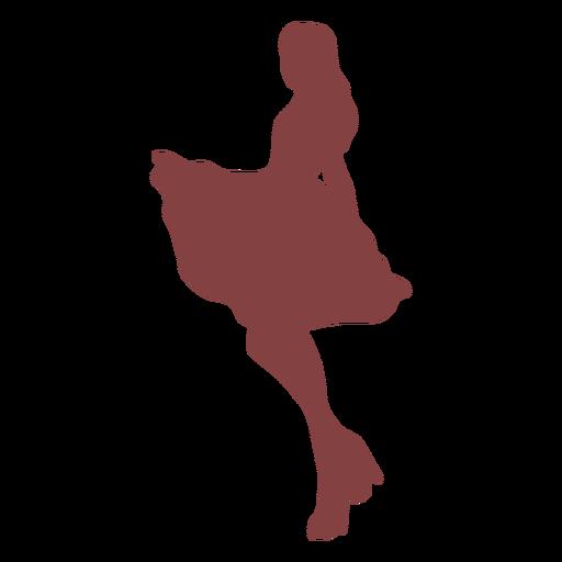 Dance women swing silhouette