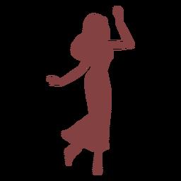 Dança mulheres andando silhueta