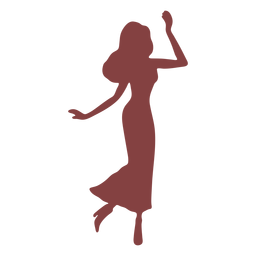 Dance women walking silhouette