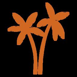 Doodle ícone de árvore de palma