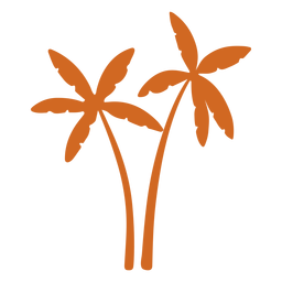 Doodle palm tree icon