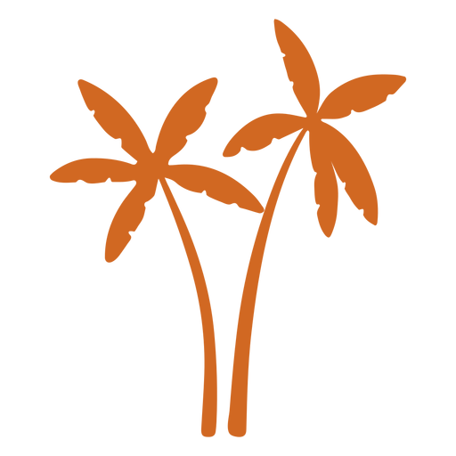 Doodle palm tree icon Transparent PNG