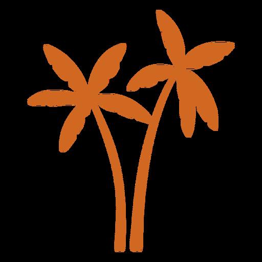 Doodle palm tree icon