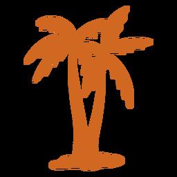 Doodle icono de cierre de palmera