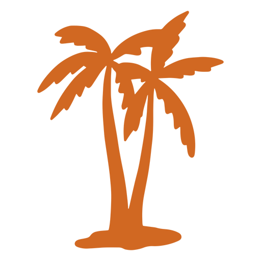 Doodle palm tree close icon Transparent PNG