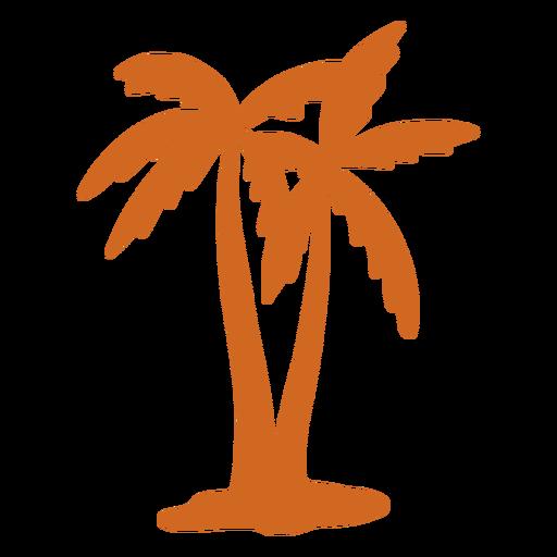 Doodle palm tree close icon