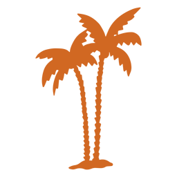Doodle palm tree zigzag icon