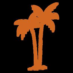 Icono de zigzag de palmera Doodle