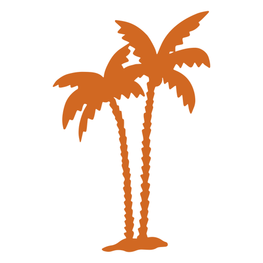 Doodle palm tree zigzag icon Transparent PNG