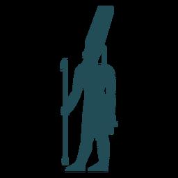Egyptian gods amun silhouette