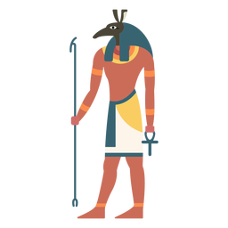 Dioses egipcios anubis flat