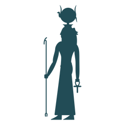Egyptian gods hathor silhouette