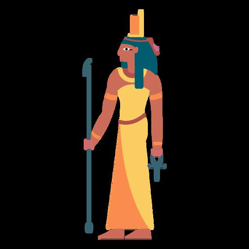 Egyptian gods isis flat