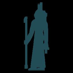 Egyptian gods isis silhouette
