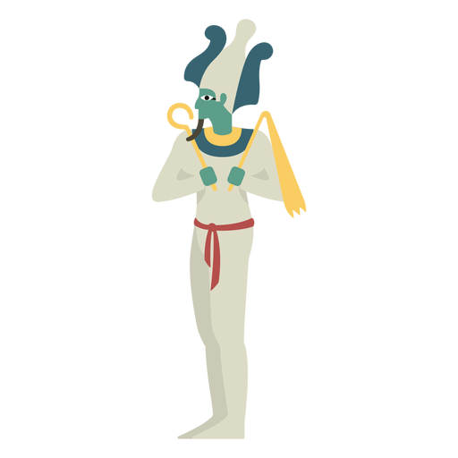 Dioses egipcios osiris flat