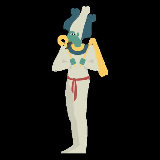 Egyptian gods osiris flat