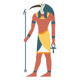 Egyptian gods thoth flat
