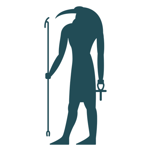 Egyptian gods thoth silhouette