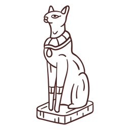 Egyptian symbol bastet stroke