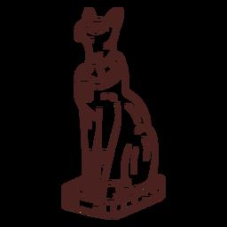 Trazo de bastet símbolo egipcio