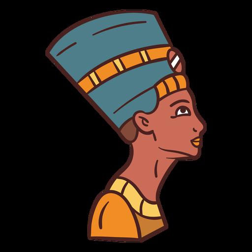Egyptian symbol cleopatra hand drawn