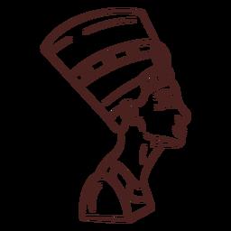 Egyptian symbol cleopatra stroke