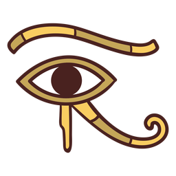 Egyptian symbol eye of horus hand drawn