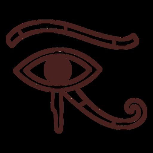 Símbolo egipcio ojo de horus trazo