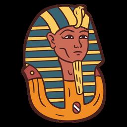 Dibujado a mano símbolo egipcio momia