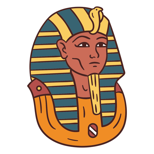 Egyptian symbol mummy hand drawn