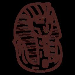 Trazo de momia símbolo egipcio