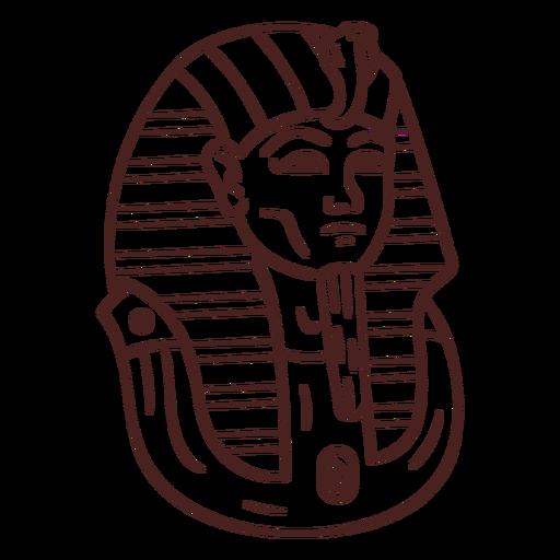 Egyptian symbol mummy stroke