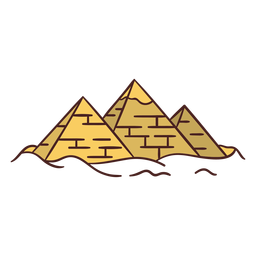 Egyptian symbol pyramid hand drawn