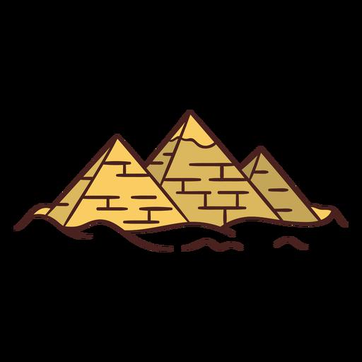 Dibujado a mano símbolo egipcio pirámide