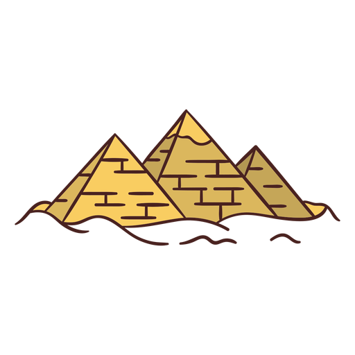 Egyptian symbol pyramid hand drawn
