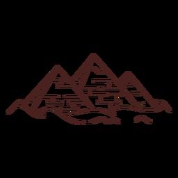 Trazo de pirámide de símbolo egipcio