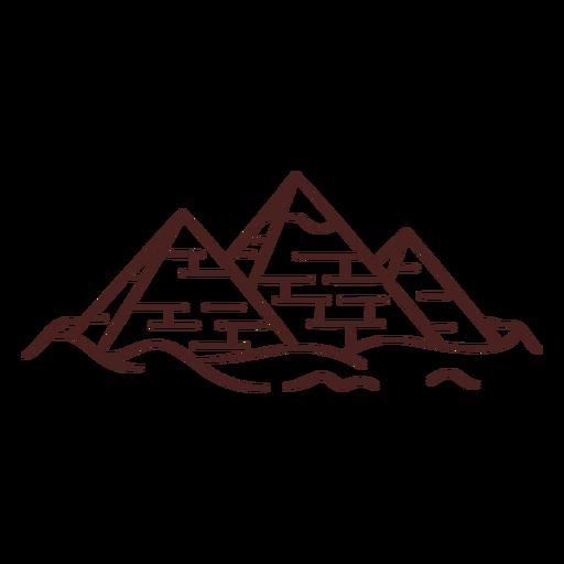 Egyptian symbol pyramid stroke