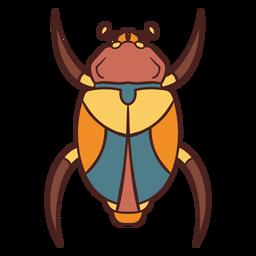 Dibujado a mano símbolo egipcio escarabajo