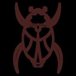Trazo de escarabajo de símbolo egipcio